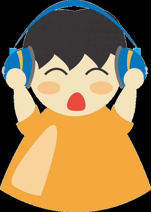 earphones boy headphone
