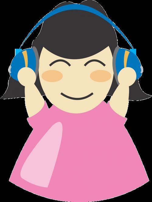 earphones girl headphone
