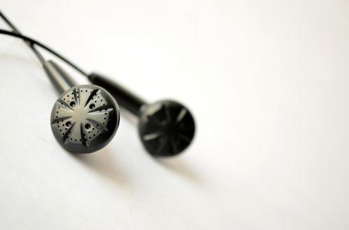 earphones black iem