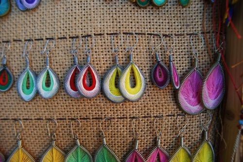 earrings colorful colourful