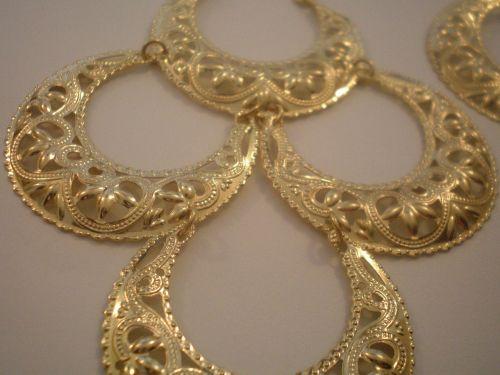 earrings gold drape earrings