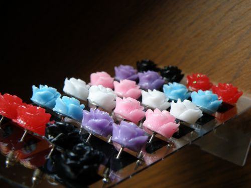 earrings rose plato