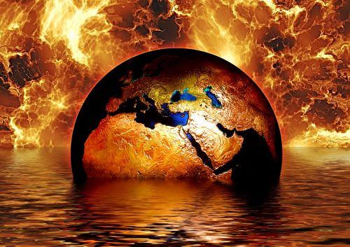 earth globe water