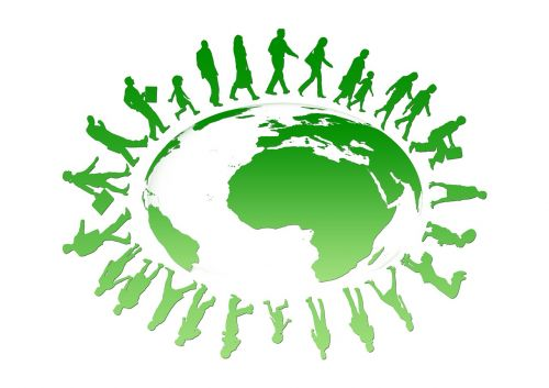 earth globe human