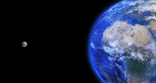 earth globe moon