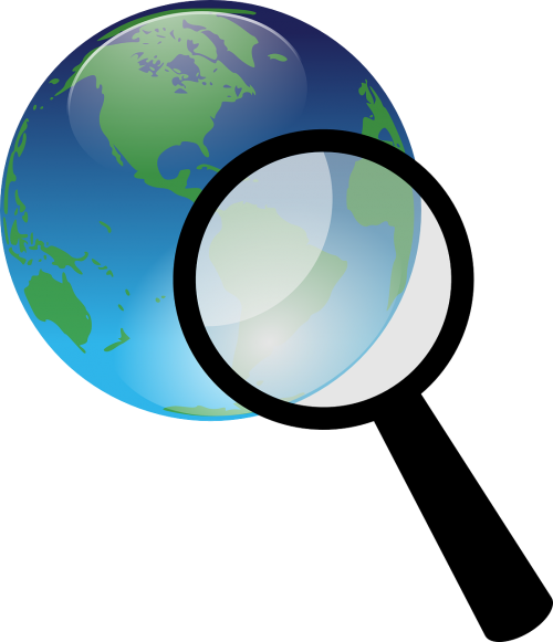 earth globe magnify