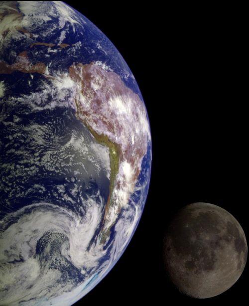 earth space moon