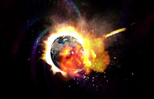 earth globe explosion