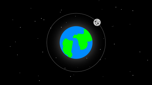 earth moon graphic
