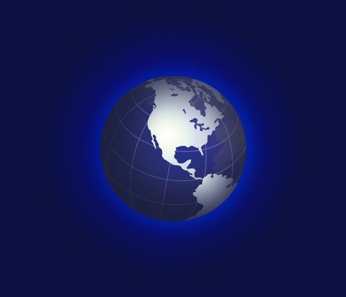 earth blue planet globe