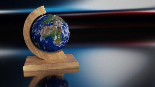 earth globe wood