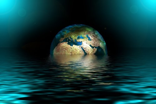 earth  globe  water