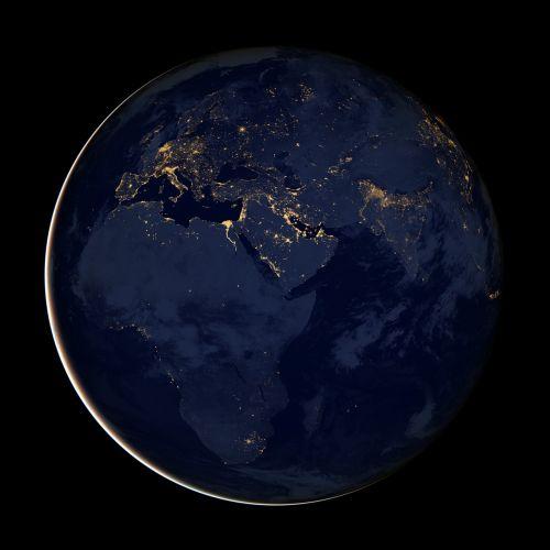 earth africa globe