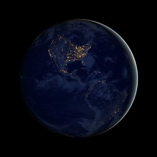 earth americas globe
