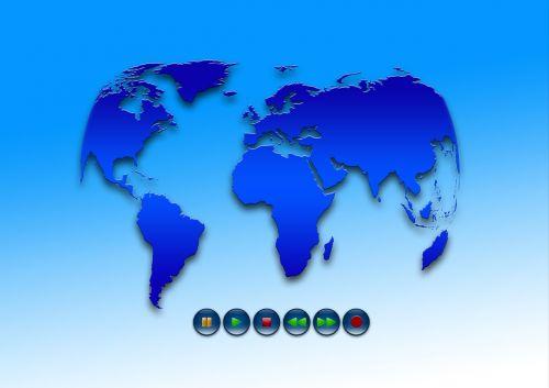 earth globe forward