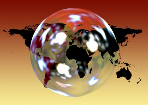 earth soap bubble continents