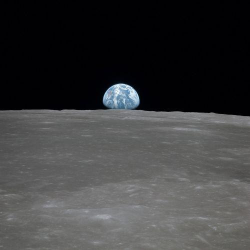 earth rising moon