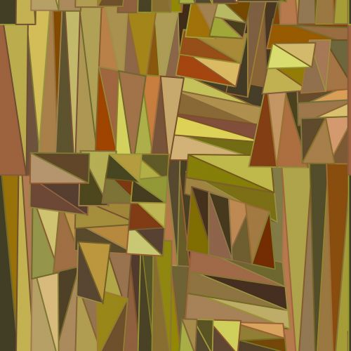 earth tones geometric shapes