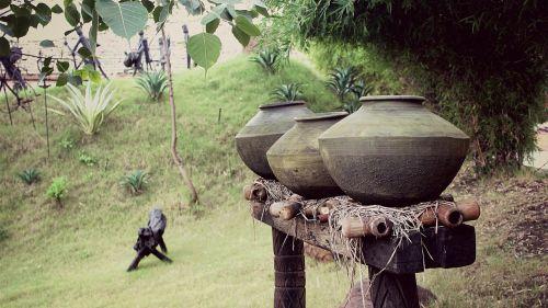 earthen jars jars old