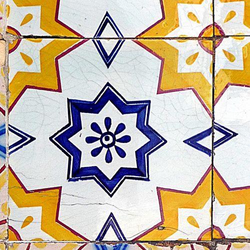earthenware tile blue