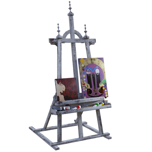 easel  art  painting
