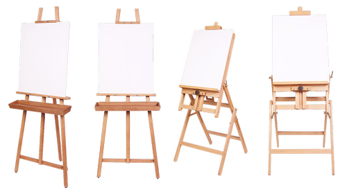 easel  machine  the identity of the artist