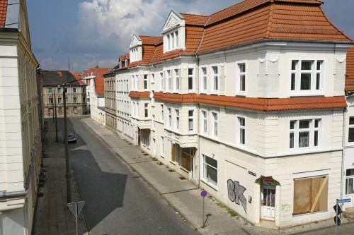 rytinė Vokietija,namas,architektūra,Vokietija,fasadas,gatvė,langas
