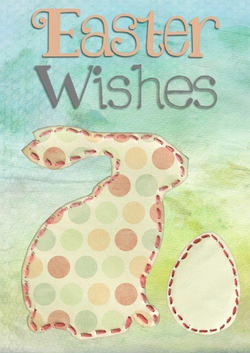 easter greeting card modern
