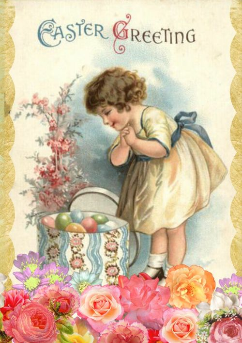 easter greeting card vintage