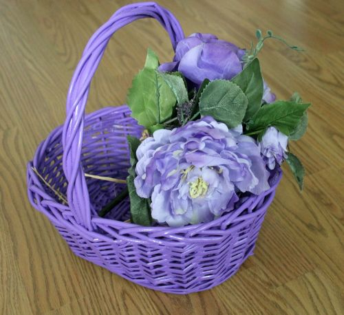 easter basket purple basket