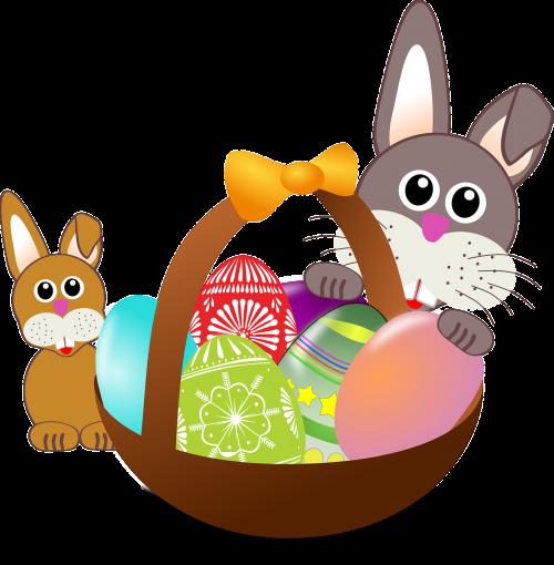 easter bunnies eggs