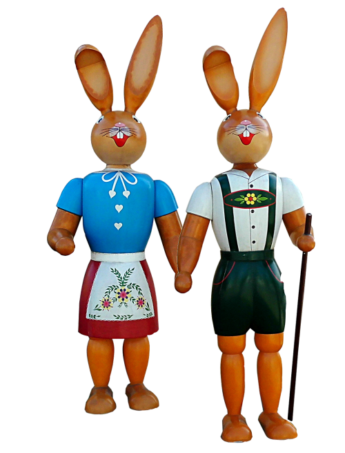 easter easter figures bunny couple