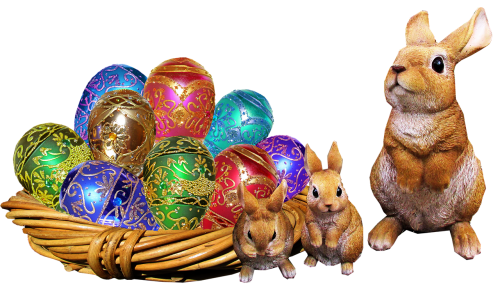 easter rabbits eggs