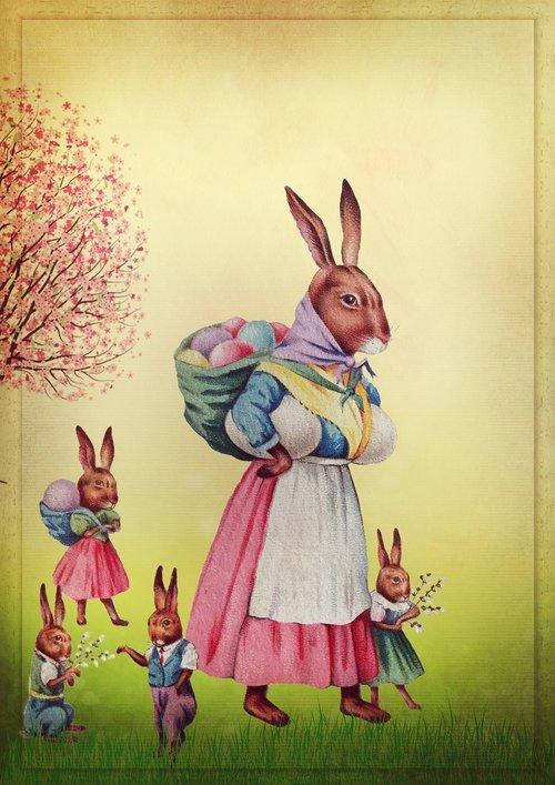 easter  vintage  easter bunny