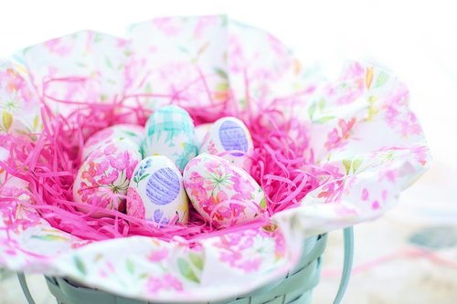 easter  basket  eggs