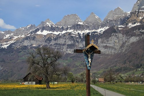 easter  cross  mountains