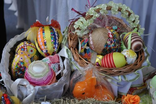 easter handicraft basket