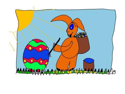 easter bunny easter easter eggs