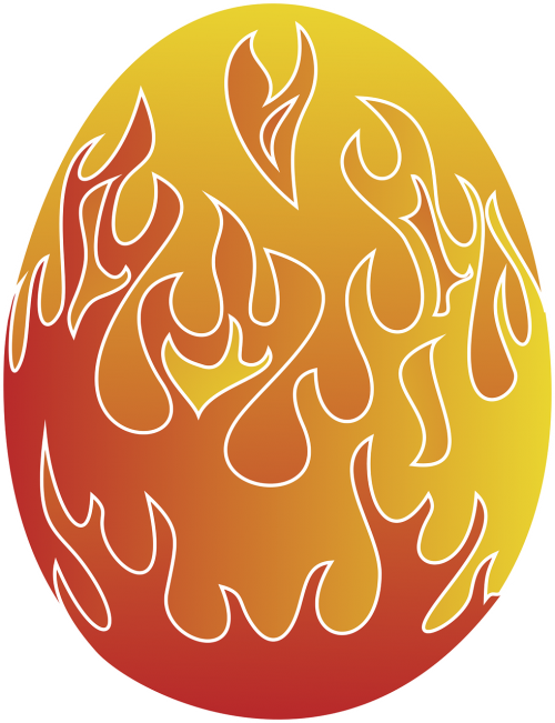easter egg flame egg