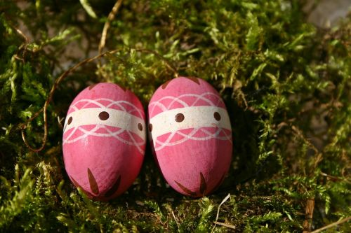 easter egg pink easter nest