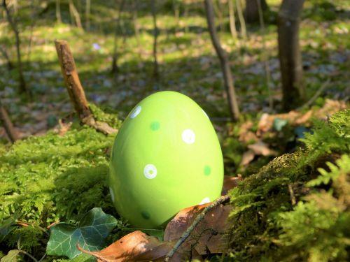 easter egg ceramic green