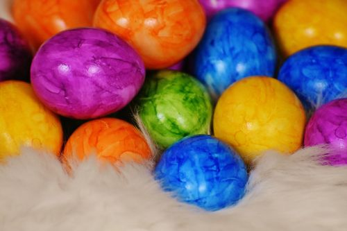 easter eggs egg colored