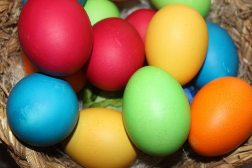 easter eggs colorful easter