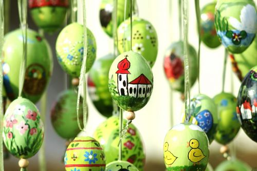 easter eggs hand painted church