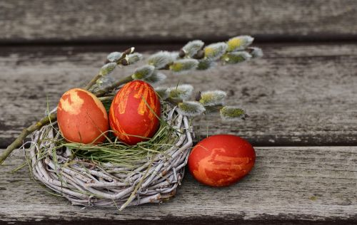 easter eggs easter nest easter decoration