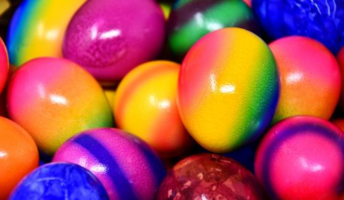 easter eggs colored colorful