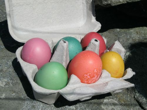 easter eggs colored eggs holidays