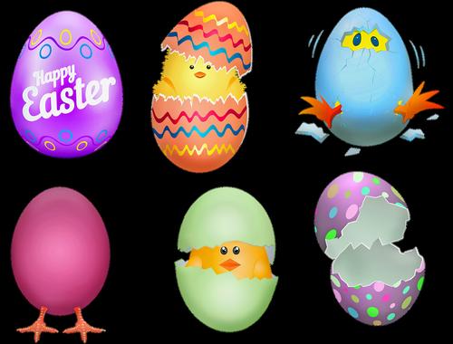 easter eggs  chicks  cracked egg