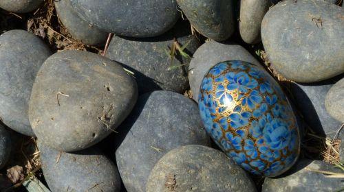 Easter Eggs And Zen Rocks