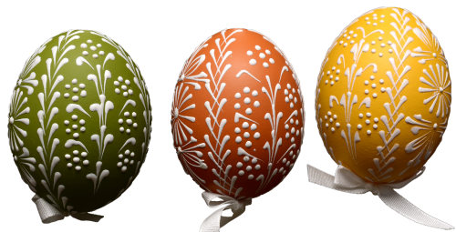 easter eggs painted isolated easter